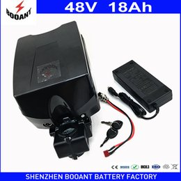 Wholesale Ebike Kits - eBike Battery 48V 18Ah 30A BMS For Bafang BBS Motor 1000W Kit Lithium Battery 48V With 2A Charger Electric Bike Battery 48V