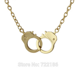 Wholesale Collar Necklace Cheap - Wholesale-Handcuffs Collar Necklace 2015 Hot Fashion Individual Design Gold Color Steampunk Necklace Cheap Costume Jewelry