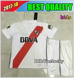 Wholesale River S - 17 18 kids kits RIVER PLATE Home soccer Jersey TEO D,ALESSANDRO BALANTA CAVENAGHI VANGIONI 2017 River Plate AWAY red child Football shirts