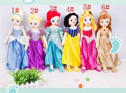 Wholesale Wholesale Snow White Doll - Snow White Sleeping Beauty Mermaid Cinderella Princess Plush Toys cartoon Plush Toy Doll 6design 67cm(26inch)