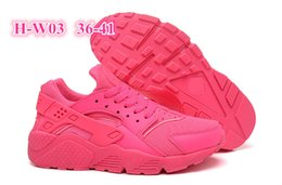 Wholesale Plus Size Mesh Body - 2016 White Air Huarache Women Sneaker Black Grey Sneakers Breathable Running Shoes Huaraches Plus Size 36-41 Free Shipping