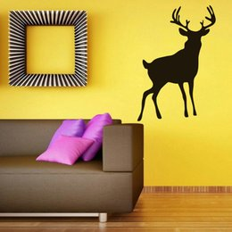 Wholesale Childrens Bedroom Decals - Wall Sticker Living Room Childrens Room Wall Decoration Deer Decals Far post Wall Poster For Girls 4