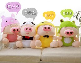 Wholesale Panda Birthday - McDull pig stuffed toy panda turned big yellow duck frog cartoon queen doll birthday gifts 25CM 35CM 50CM 70CM