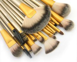 Wholesale 18 Piece Makeup Brush Set - 18 Pieces Set Makeup Brushes Set Tools Kit Eye Shadow Blusher Foundation Lip Eyeliner Blooming Brushes Cosmetology Beauty Health