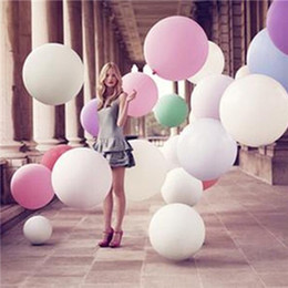 Wholesale Yellow Napkin Rings - 36 Inches Huge Wedding Balloon Hanging Spheres Colorful Wedding Birthday Party Balloons Christmas Festival Decorations Big Smooth Balloons