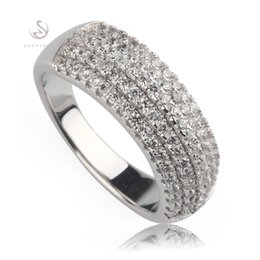 Wholesale Trendy Tops For Wholesale - White Cubic Zirconia jewelry Trendy Silver Plated RINGS R3169 sz#6 European Jewelry For Women Ring Wedding Party Birthday Top Quality