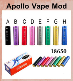 Wholesale Apollo Cigarette - ecig mod Apollo Vape Mod electronic cigarette mods for 18650 battey fit mech mod drip tank atomizer vs vv vw beyang 30w ecig box mod TZ173