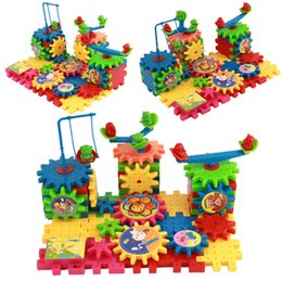 Wholesale Education Wooden Toys - New Hot Toy Creative Gear Toys Electronic Building Diy 3d Puzzle Building Toys Learning Education Toys Brinquedos 81 Parts