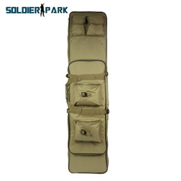 Wholesale Rifle Sniper Case Gun Bag - Waterproof Nylon 120CM Hunting Tactical Dual Rifle Bag with Shoulder Strap Airsoft Military Safety Sniper Carrying Case Gun Bag order<$18no