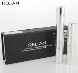 Wholesale Transplanting Mascara - Black ReLian Fiber Transplanting Gel Novel Concept on Eyelash Beauty Eye Mascara Longer Eye Lash Waterproof Curling Thick Makeup Tool #71272