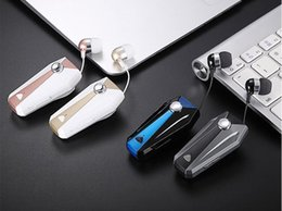 Wholesale Clamp For Iphone - K10 Sport Stereo Mini Clip on Bluetooth Headset Wireless bluetooth handsfree clip Earphone Headphone Clamp Collar For Samsung iPhone
