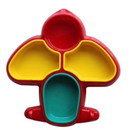 Wholesale Dish Child - 2015 New Arrival Kids Boys Girls Dinner Dishes Infant Children Plane Shape High Quality Plastic Plates Colorful Dinnerware For Childs H2932