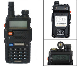 Wholesale Portable Walkie Talkie Uhf Vhf - Wholesale-2016 Hot Portable Radio Baofeng UV-5R two way radio Walkie Talkie 5W vhf uhf dual band 136-174 400-520MHZ baofeng uv 5r