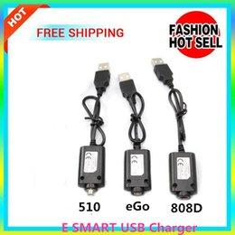 Wholesale E Smart Blister - ecigs E Cigarette 510 charger 808D eslim E SMART USB charging E-smart 808 battery ESMART Blister charger usb charger USB Cable EGO E-CIGS