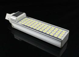 Wholesale Led Pl Base - 11W 5050 SMD 52 LED Bulbs 85-265V AC E27 G24 E14 Base PL Lamps CE ROSH Approval Lighting Bulbs Warm white Cool white Light 2 Years Warranty