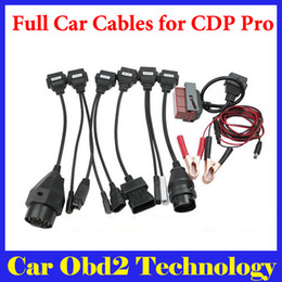 Wholesale Multi Connectors - [10pcs lot] Wholesale Full Set 8pcs Car Cables For TCS CDP Pro OBD2 Cables For Multi-brand Cars With DHL EMS Free Shipping