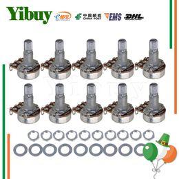 Wholesale Mini Electric Pot - Wholesale- Yibuy 10*A500K OHM Audio MINI POTS Guitar Potentiometer for Electric Guitar