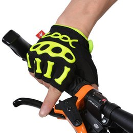 Wholesale King Gloves - Wholesale-2015 SPAKCT high quantity Unisex Half Finger Cycling Gloves-Skeleton King Design 3 colors