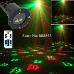 Wholesale Outside Home Lighting - new arrival remote R&G Outdoor Waterproof Xmas Laser projector 12 patterns Landscape Light club party Tree Garden Outside XR12