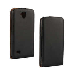 Wholesale Huawei Ascend Phone Cases - For Huawei Y560 Case Black Genuine Leather Flip Case Cover with Magnetic Closure Up and Down Phone Case for Huawei Ascend Y560