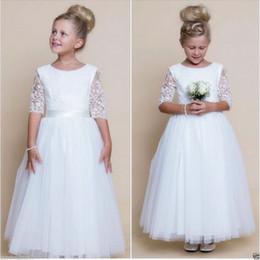Wholesale Bridesmaid Dress Flower Details - Details about 2016 Flower Girl Dresses Wedding Bridesmaid Birthday Party Formal Recital Gown