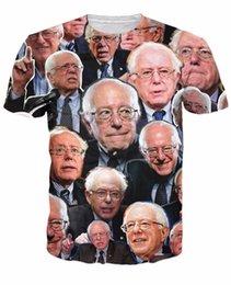 Wholesale Dropship Clothing Women - Wholesale-New Bernie Sanders Paparazzi Summer short sleeve 3D print t shirt Casual tee for Women Men Fashion Clothing Dropship
