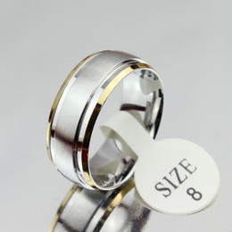 Wholesale Vintage Gold Bands - Vintage white gold engagement ring men wome jewelry anel feminino stainless steel bijoux
