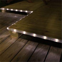 Wholesale Solar Powered Christmas Light Rope - Wholesale-100 LED Solar Powered Waterproof Rope Light Warm White