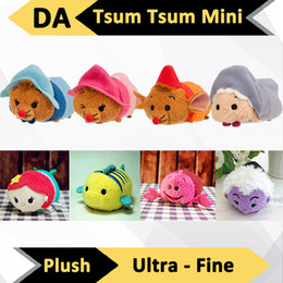 Wholesale Plush Mobile Cleaner - Wholesale-The Newest 9cm 3 1 2 inch Tsum Tsum Stuffed Plush Mobile Phone Screen Cleaner Wiper Charm with Original Japan Tags Toys Gifts