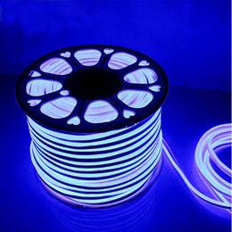 Wholesale Wholesale Neon Flex Rope Light - AC110 AC220V SMD2835 14X26MM LED Neon Flex Strip Light 5.5W 6W LED Neon Rope Light 90LEDS 120LEDS LED Neon Light