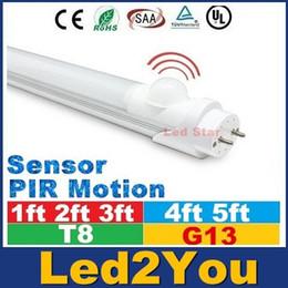 Wholesale T8 Pir Motion - UL FCC Led Sensor Tubes Light 1ft 2ft 3ft 4ft 5ft T8 Led Tubes Voice Contra PIR Motion Sensor Fluorescent Light AC 85-265V