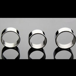 Wholesale Stay Hard Cockrings - Wholesale Stainless Steel The Sleeve Penis Ring Delay Ejaculation Penis Ring Metal Stay Hard Cockrings for Male G7-1-31