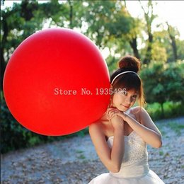 Wholesale Helium Balloons Big - 10 PCS lot 10 Colors 27 Inch Super Large Balloons Helium Inflable Latex Balloons Birthday Wedding Party Decor Big Ballon
