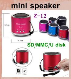Wholesale Digital Sound Box Speaker - wireless mini speaker z 12 z-12 2 inch subwoofer speaker music sound box digital car speaker hifi-speaker portable MIS051