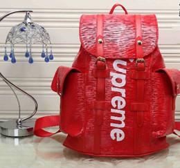 Wholesale Ladies Black Designer Backpacks - backpacks designer 2017 fashion women lady black red rucksack bag charms free shipping