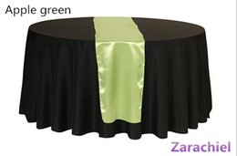 "Wholesale Purple Satin Table Runners - 50pcs lot Satin Table Runners 12"" x 98"" Wedding Party Decorations Purple Green Yellow Champagne Silver Runner Table"