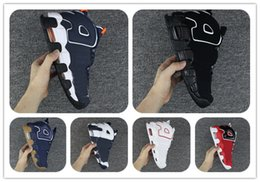 Wholesale Gold Bull - Cheap basketball Shoes Air More Uptempo SUPTEMPO Sports Shoes OLYMPIC RELEASE Bulls Gold Varsity Maroon Black Mens Women Scottie Pippen Shoe