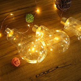 Wholesale Warm Battery - Free delivery, star light string soft sprout young girl heart star creative Christmas light bulb room copper LED lamp decoration
