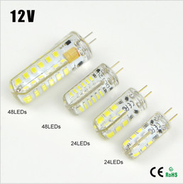 Wholesale 12v 5w Halogen Bulb - NEW Arrival 1 X3W 5W 6W 10W DC12V LED lamp Crystal light High End Silicone Body G4 3014 2835 SMD Spotlight Bulb Chandelier replace Halogen