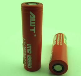 lr44 baterias Desconto 50X Atacado e cig mod AWT 18650 3000 mAh 35A Taxa de Descarga Contínua Alta Dreno Gerador de Bateria Recarregável