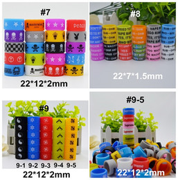 Wholesale Custom Branded - Personalized silicone vape band with many patterns 22*12*2 22*7*1.5 non-skid vape rings Custom Brand Logo ecig accessories for tank mech mod