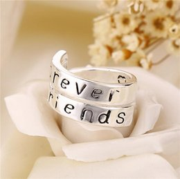 Wholesale Sales Forever - Hot Sale 925 Sterling Silver Rings For Ladybro With Words Forever Friends And Sister For Women freeshipping