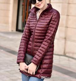 Wholesale Women Winter Long Coats Cheap - Best Winter Down Coat Women Brand Design Long Fashion Slim ladies Parka Warm Outwear Cold Jackets american Plus Size Cheap Sale