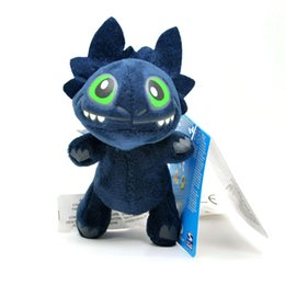 """Wholesale Dragon Toothless Plush - Free Shipping Cute How To Train Your Dragon 2 * TOOTHLESS Night Fury Plush Keychain Doll Toy 5"""""""