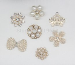 Wholesale Metal Buttons For Crafts - 20pcs Light Gold Metal Rhinestone Buttons for Hair Accessories Flower Center Wedding Invitation scrapbooking crafts products