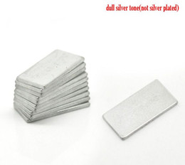 """Wholesale Rectangle Magnets - Beijia Silver Tone Super Strong Rectangle Neodymium Magnets 20x10mm(3 4""""x3 8""""),sold per pack of 10"""