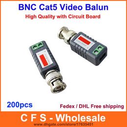 Wholesale Passive Video Transceiver - 200pcs Coax CAT5 Camera CCTV Passive BNC Video Balun to UTP Transceiver Connector DHL   Fedex Free Shipping