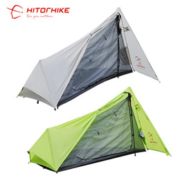 Wholesale Open Silicon - Wholesale- Hitorhike Tent 800g Silicon Coating 2018 New Arrival Ultralight 3 Seasons 1 Person Camping Hiking Tent Easy Tent Set Up By Pole