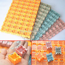 Wholesale Quality Components - New & Genuine High quality 100pcs SMD SMT Electronic Component Mini Storage box High quality and practical Jewelry storaged case order<$18no
