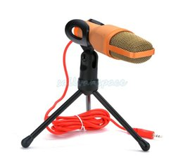 Wholesale Laptops Microphones - 2014 New Fashion Sound Podcast Studio Professional Condenser Microphone For Laptop Skype Singing Recording SV02